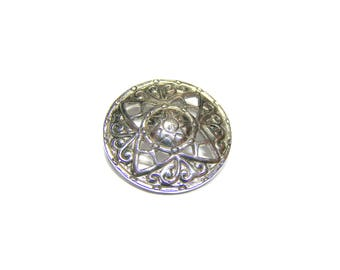 Vintage Scotland made Brooch Pin Pendant Silver Celtic Pin Pewter Sun Dial Brooch gift for her, Costume Silver Scottish Brooch gift for xmas
