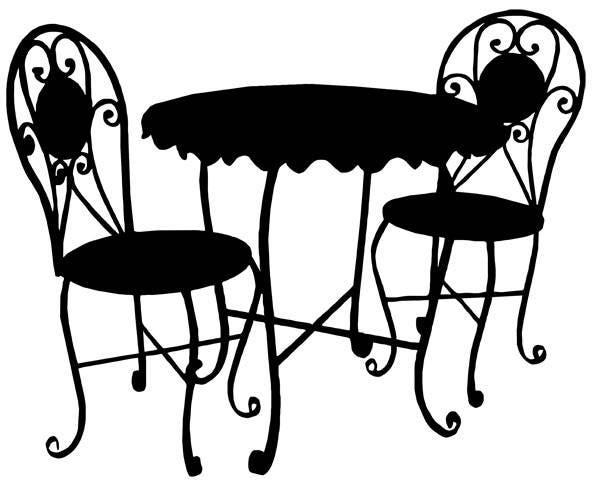 Bistro Cafe Furniture Set Clip Art Png Jpg Graphics Image