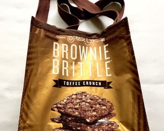 Fun Eco Friendly Purse or Lunch bag made with Brownie Brittle bags YUM upcycled repurposed
