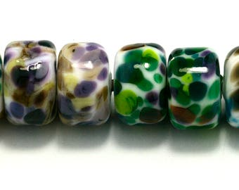 Drops Pairs Handmade Lampwork Beads by Pink Beach Studios 8 count (1569)