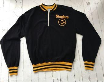 Vintage Pittsburgh Steelers Jacket / Steelers / NFL pullover / 70s NFL / 70s Steelers Athletic Jacket