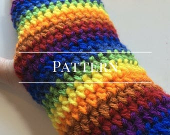 Easy Crochet Rainbow Fingerless Gloves Pattern