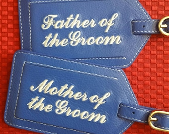 Luggage Tags---Parents of the Groom