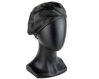 Black Leather Beret Hat Women's Black Beret Faux Leather Beret Spring Beret Spring Fashion
