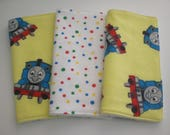 Thomas the Train baby wash cloths/reuseable wipes