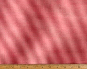 Fabric Red/white gingham Cotton Small checks 44 in wide Sold by the yard Quilting Clothing Doll clothes Shabby Chic Country Western
