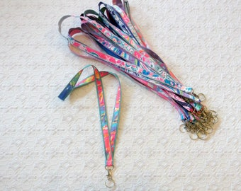 Lilly Pulitzer Fabric Ribbon Lanyard in Many Prints