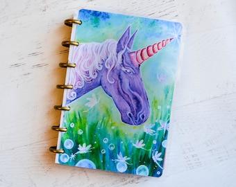 Unicorn Planner - Arc Planner - Mini Planner Cover - Disc Planner Cover - Unicorn Agenda - Daily Organizer Accessories - Unicorn Gift