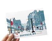 Buffalo NY Wall Art, Buffalo Art, Main Street Buffalo New York Art , A Winter Wonderland, Buffalo Art Print, Buffalo NY Art