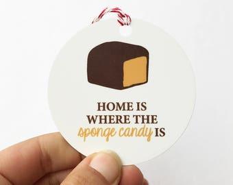 sponge candy ornament, buffalo ny ornament, home is where the sponge candy is buffalo ornament