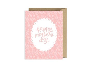 Hand Lettered Mother's Day Card Z394