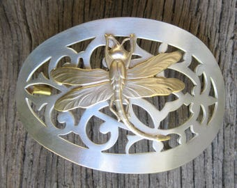 Dragonfly Buckle silver retro Vintage recycle upcycle antique