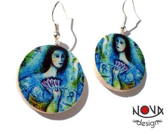 Marc Chagall: Dancer circus - earrings