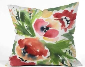 Melon-Choly Tropics Throw Pillow
