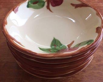 """Vintage Franciscan Apple Bowls, Set of Six Fruit/Sauce Bowls 5.25"""""""