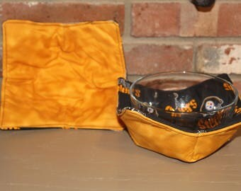 """Microwave Safe Pittsburgh Steeler Theme Bowl Cozy 7"""" X 7"""" Pot Holder, Set of 2. FREE  USA SHIPPING (30001)"""