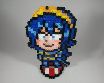 Lucina - Fire Emblem - Super Smash Bros Nintendo - Perler Bead Sprite Pixel Art Figure Stand or Lanyard Necklace
