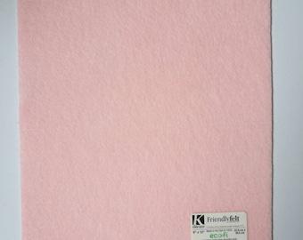 Sheet of stiff felt / stiff felt ecofi pale pink