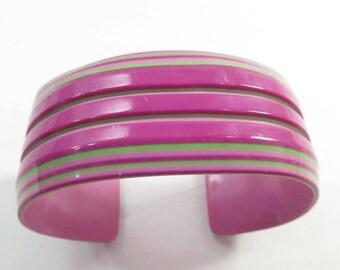 SALE Lea Stein Bracelet Cuff Laminated Cellulose Acetate Lucite 1970s French 9211