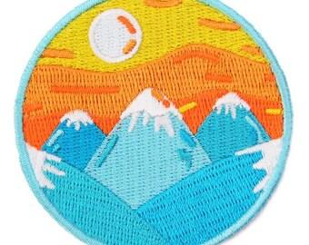Mountain Sunrise Iron On Patch