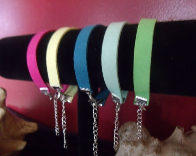 Suede Bracelet, Colorful Suede Bracelet, Summer Color Fun Bracelet, Leather Bracelet, Leather Jewelry,