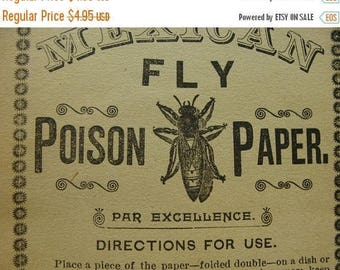ONSALE Antique Poison Creepy Label 6 inches