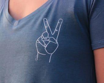 Peace Vneck Tshirt