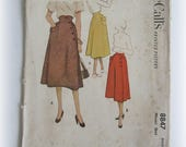 Vintage McCall's 8847 Printed High-Waisted Skirt Pattern...Mid-Century Modern!
