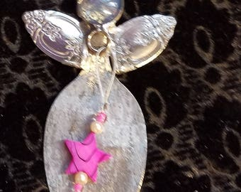 Spoon angels handmade Angels rustic art Angels folk art