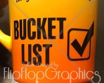 Bucket List Checkmark Vinyl Graphic