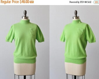 SALE Green Cashmere Sweater / Pull Over Cashmere Sweater / Turtle Neck Cashmere Sweater / Lime