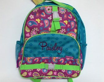 Personalized Stephen Joseph All Over Print Paisley Print Backpack