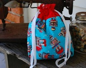Robot Knitting Project Bag, Knitting Project Bag, Crochet Project Bag, Project Bag, Knitting WIP bag, Cross stitch Bag
