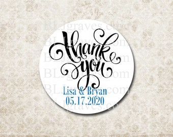 Custom Personalized Thank You Sticker Wedding Baby Birthday Shower Sticker Treat Bag Party Favor Sticker SP097