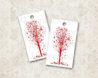 Tags Wedding Wish Tree Party Favor Valentine Love Heart Handmade T006