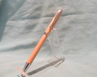 Chrome Maple Slimline Pen