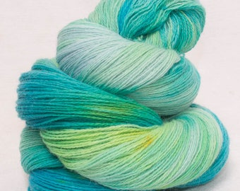 Hand dyed yarn, lace weight yarn, Angora, Merino lambswool yarn, 100g skein, knitting , Crochet yarn, hand painted yarn, luxury yarn