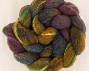 Hand dyed roving, Shetland, Tussah silk, felt, Hand painted tops, fiber, Dreadlocks, spinning wool, felting materials, felting projects