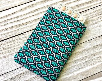 Pill case Birth Control Cozy - Teal Mermaid