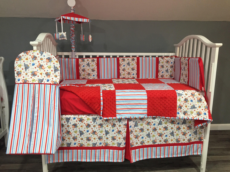 Dumbo Boutique Crib Mini Crib Nursery Toddler Neutral Bedding