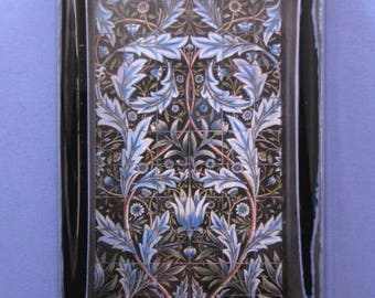 Artichoke Paperweight, William Morris Tile, Artichoke Tile Panel, Large Rectangle, Glass Paperweight, Arts and Crafts Tile, Desk Accessory