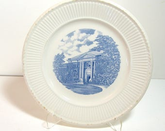 Wedgewood University of New Hampshire Hamilton Smith Library Plate