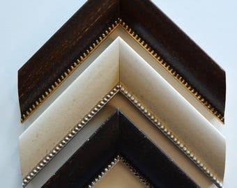 8 x 10 - 12 x 16 Beaded picture frames in Ivory, Brown and Black.