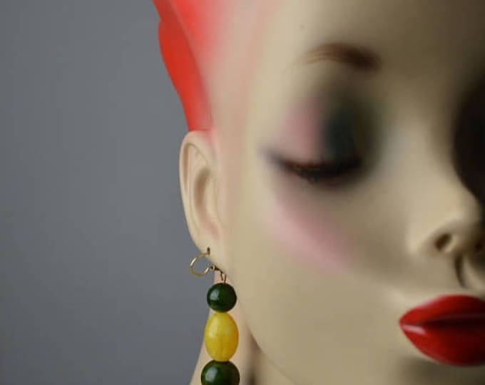 sale Boho Earrings, Hippie EarringsBakelite Earrings, Beaded Earrings, Dangle Earrings, Drop Earrings, Vintage Earrings, Upcycled Earrings,