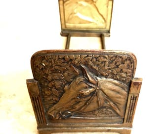 Art Deco Expanding Horsehead Bookends Book Rack 1920s Judd