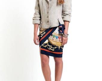 40% SUMMER SALE The Vintage Beige Fitted Wool Blazer
