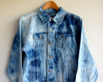 40% OFF Hazed Tie Dye Wrangler Denim Jacket