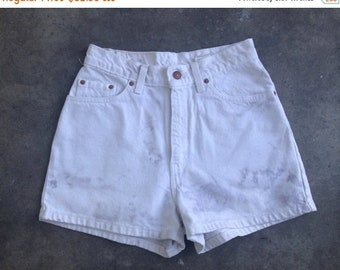 40% OFF The Vintage High Waisted White Levi's Shorts