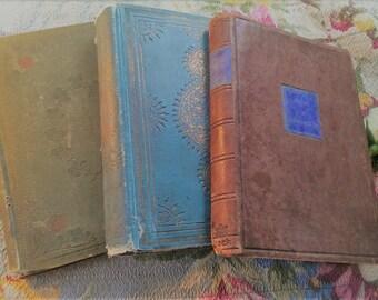 Trio of Antique Books Literature poems essays