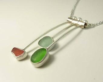 Mid- century sea glass necklace
